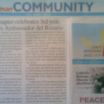 "JCI chapter celebrates 3rd year, honors Ambassador del Rosario."" The Freeman. Vol. 43, No. 118. Cebu City. 13 November 2008: Community, 29."