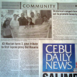 "JCI (Cebu-)Mactan (Channel) turns 3, pays tribute to first Jaycee prexy Del Rosario."" Cebu Daily News. Vol. 11, No. 636. Cebu City. 15 Nov. 2008: Community, 19"