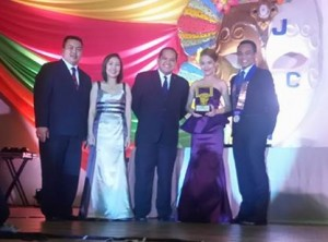 VP Idyll Peroramas adjudged as JCI Visayas Most Outstanding JCI Member for 2014