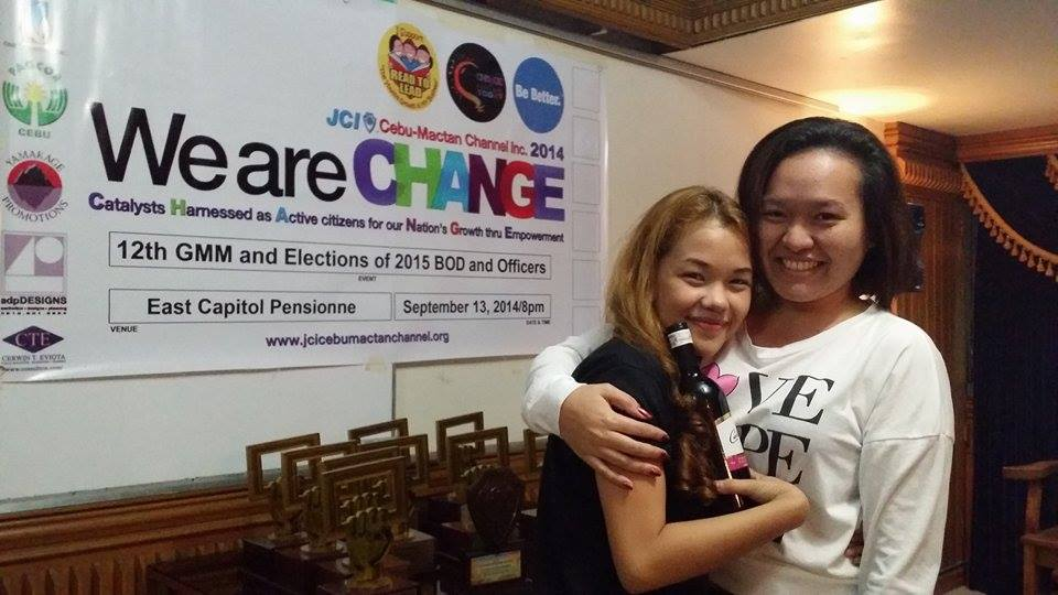 The Ladies of JCI Central Visayas - 2015 President-elect of JCI Cebu-Mactan Channel Idyll Liza Peroramas and 2015 Regional Vice President-elect for Central Visayas Daryl Bihag of JCI WoMandaue