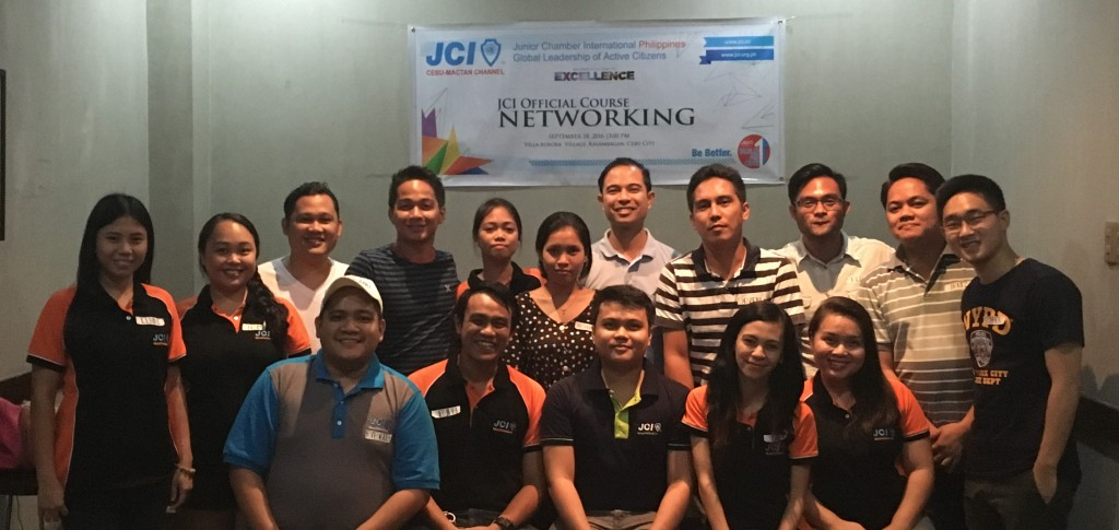 Attendees during JCI Cebu-Mactan Channel's hosting of the JCI Official Course: Networking
